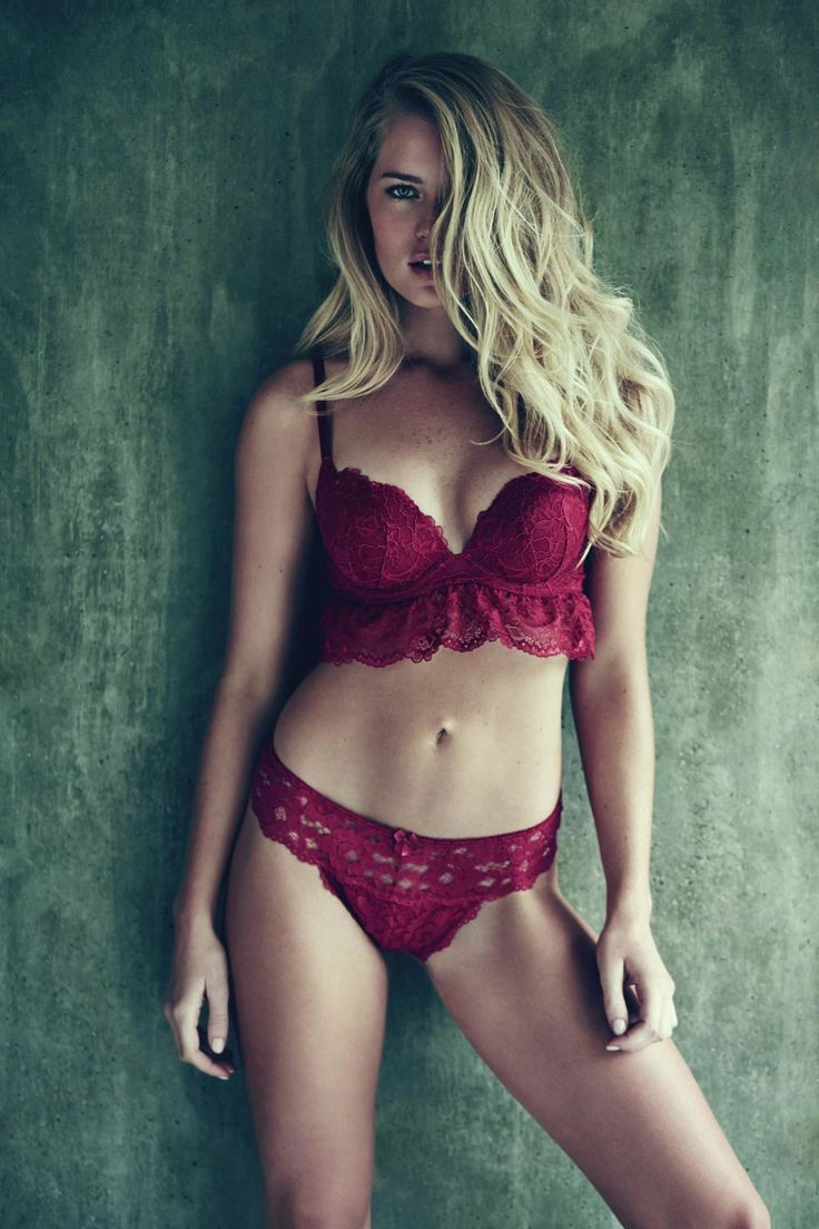 Red frilled honeymoon lingerie