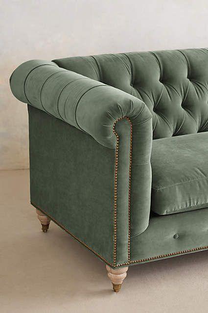 Velvet Lyre Chesterfield Sofa, Wilcox