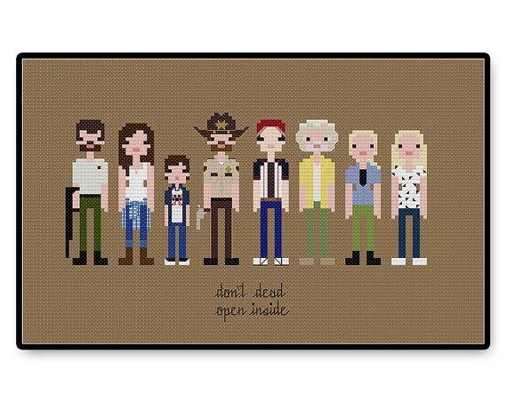 The Walking Dead Season One  Cross Stitch PDF by HugSandwich