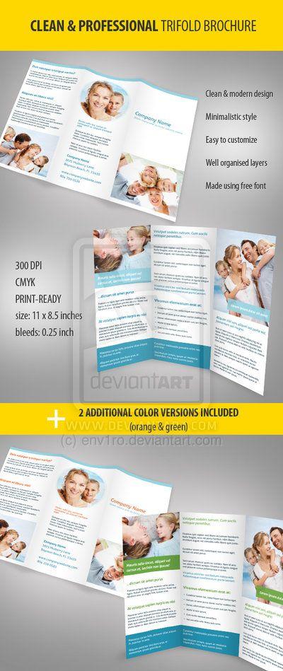 30 Contoh Desain Brosur Lipat Tiga | 27_Clean-and-Professional-Trifold-Brochure