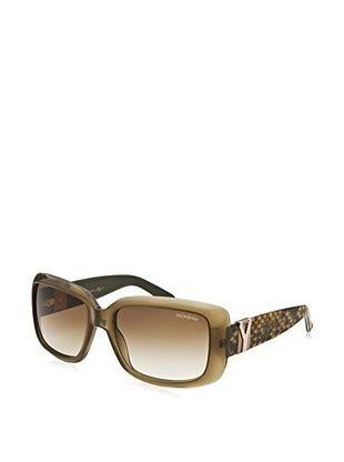 Yves Saint Laurent 6377-S-Sk8Db Sunglasses, Translucent Olive Green