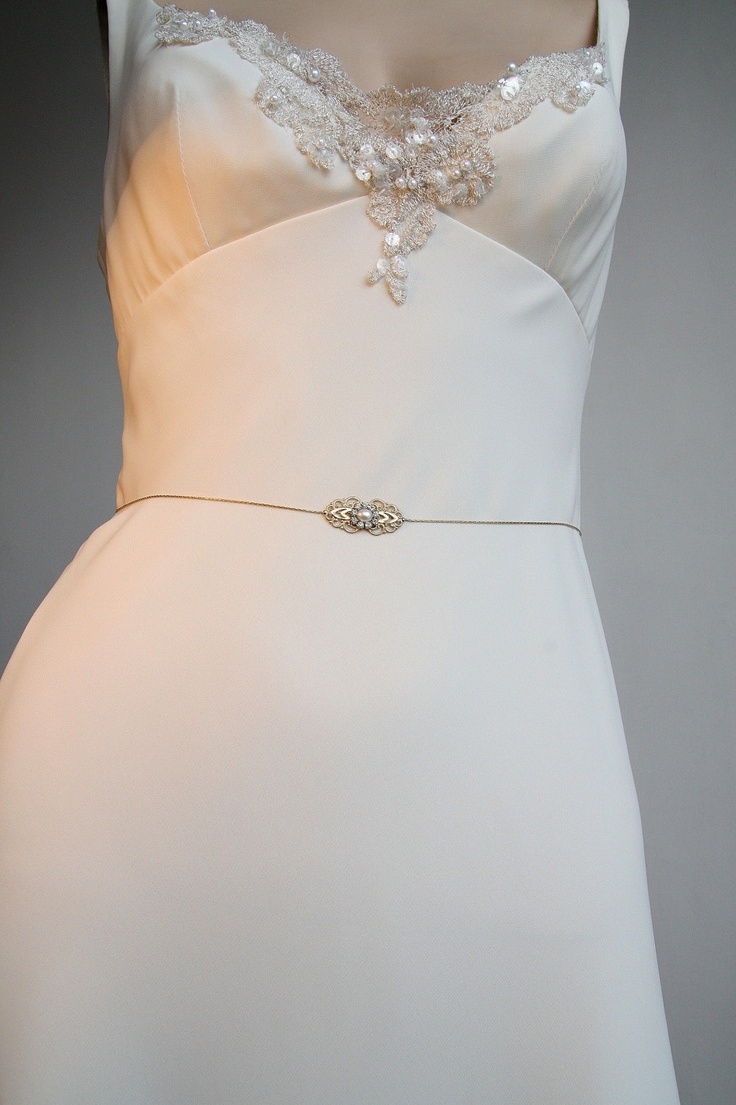 Handmade crystal bridal belt rhinestone pearl luxury wedding dress - Gold Bridal Belt Sash Rhinestone Crystal Pearls Victorian Vintage Style Jewelry Wedding Dress Belt