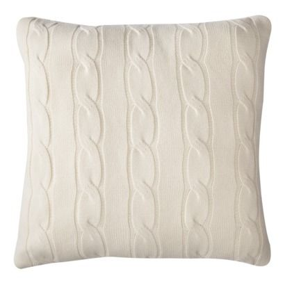 Threshold Oversized Cable Knit Toss Pillow 24x24 Quot For