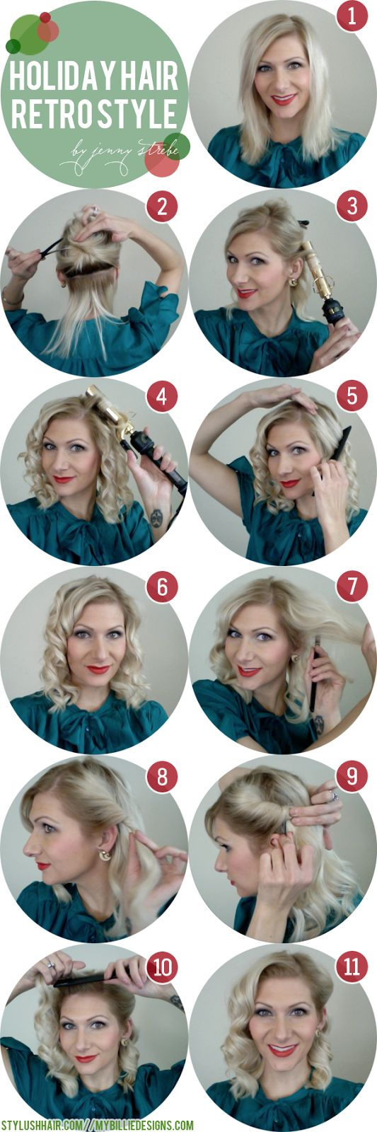 17 ways to make the vintage hairstyles | holiday hair, retro curls