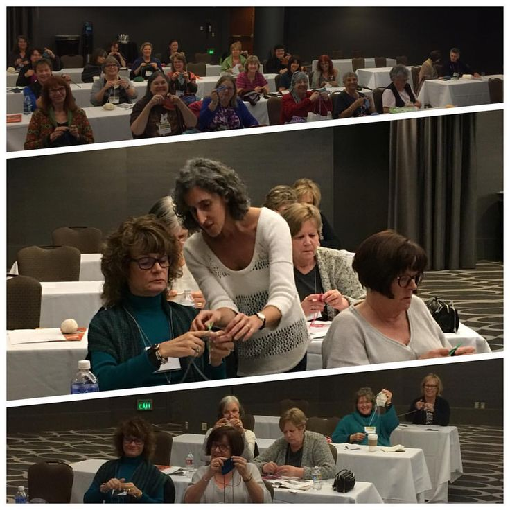Day 1 of classes with 30 great students! See you all tomorrow #knitting #stitcheswest #knittersofinstagram