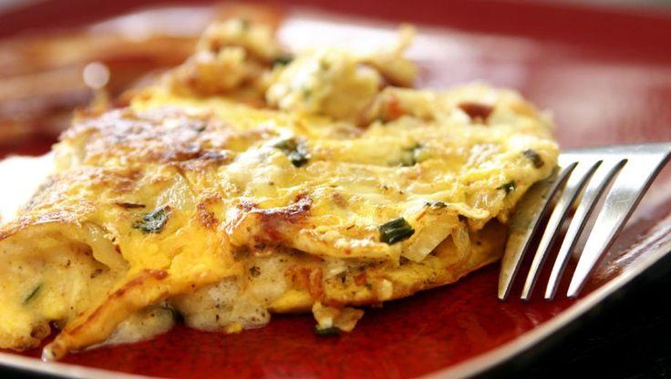 Omelet met bosuitjes en kaas   PlusOnline