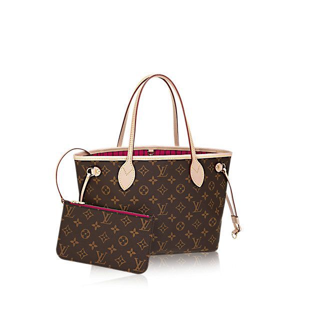 Neverfull PM Luxury Louis Vuitton Monogram Canvas Handbag