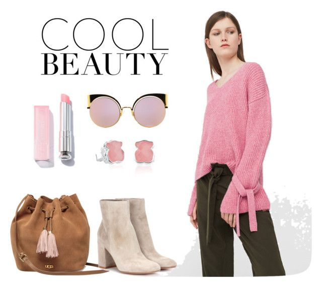 """""""cool pink"""" by aboutmetheblog on Polyvore featuring UGG, Gianvito Rossi, MANGO, TOUS and Fendi"""