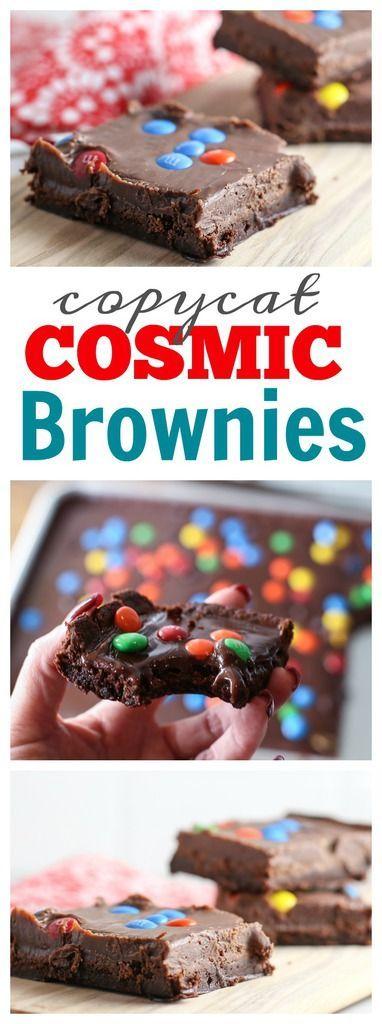 Cosmic Brownie {copycat} #dessert #dessertrecipes #chocolate #chocolaterecipes #copycatrecipe #brownies #easyrecipe