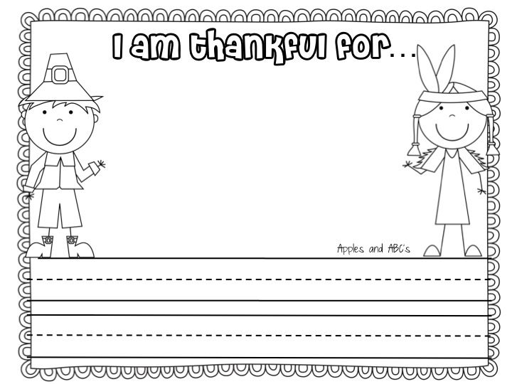 turkey writing paper topper