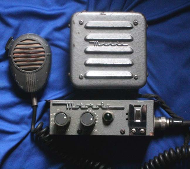 Vintage Motorola Police Radios | EARLY RARE ANTIQUE MOTOROLA RADIO HEAD SPEAKER& MIKE