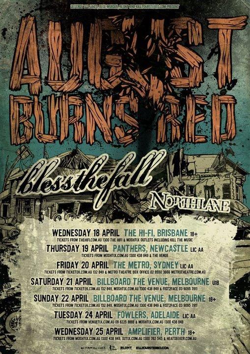 Australian Tour Updates: August Burns Red, blessthefall, Northlane