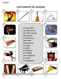 fiche vocabulaire les instruments de musique