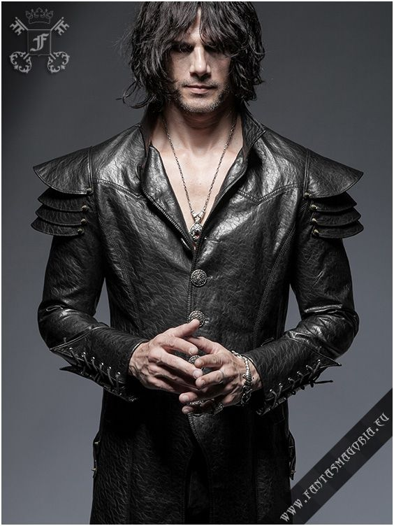 Lycanthrope coat by Punk Rave. Made of synthetic leather and cotton lining. Available sizes S to 3XL. Model wears Medium size. Get yours here: http://www.fantasmagoria.eu/y-630-lycanthrope-coat-punk-rave