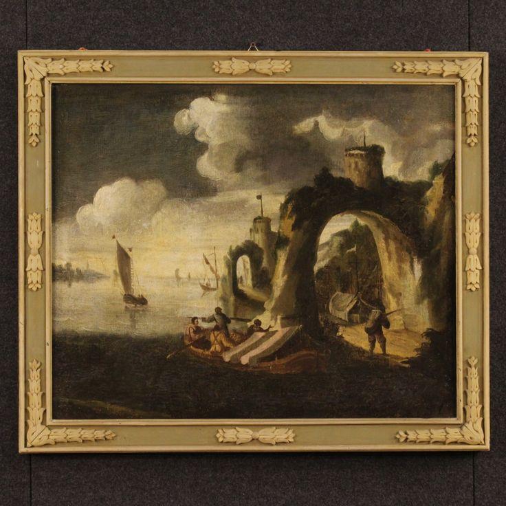 2200€ Antique Italian painting seascape with boats of the 18th century. Visit our website www.parino.it #antiques #antiquariato #painting #art #antiquities #antiquario #canvas #oiloncanvas #seascape #quadro #dipinto #arte #tela #decorative #interiordesign #homedecoration #antiqueshop #antiquestore