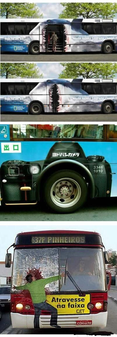 creative bus advertisements