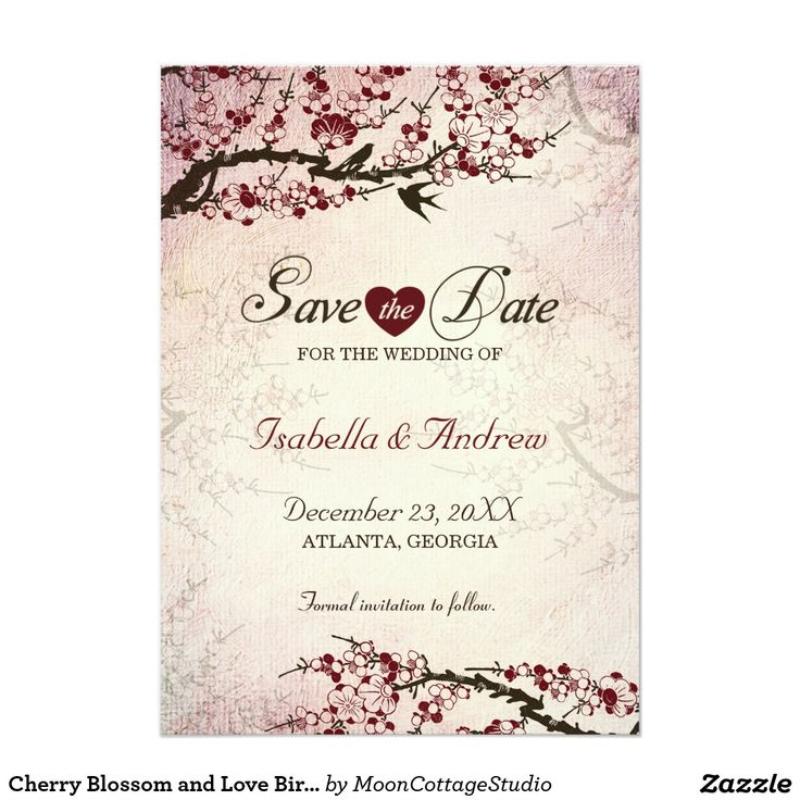 23 best stiker label ulang tahun anak images on pinterest label cherry blossom and love birds save the date 2 5x7 paper invitation card stopboris Gallery