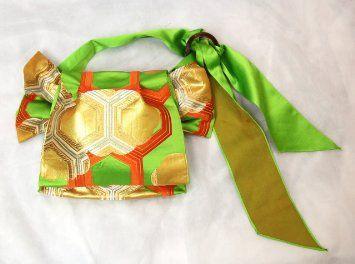 Kimono Obi (Sash) Knot Bag: Fukura-suzume Musubi