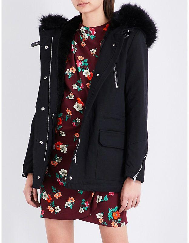 Maje Gafeto cotton-blend parka coat