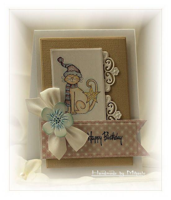 Handmade by Mihaela: Happy Birthday card