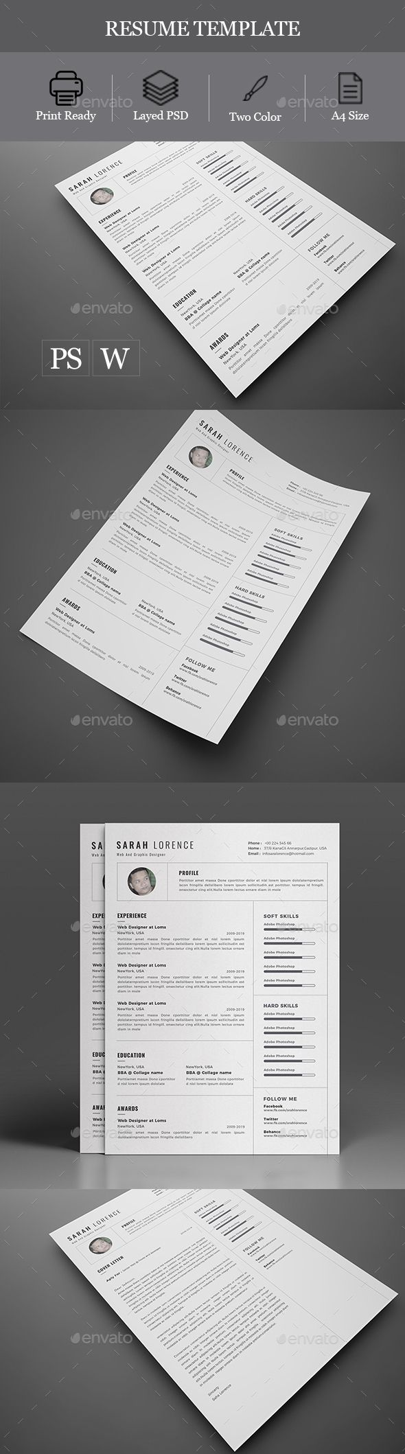 17 best ideas about cv templates word on pinterest