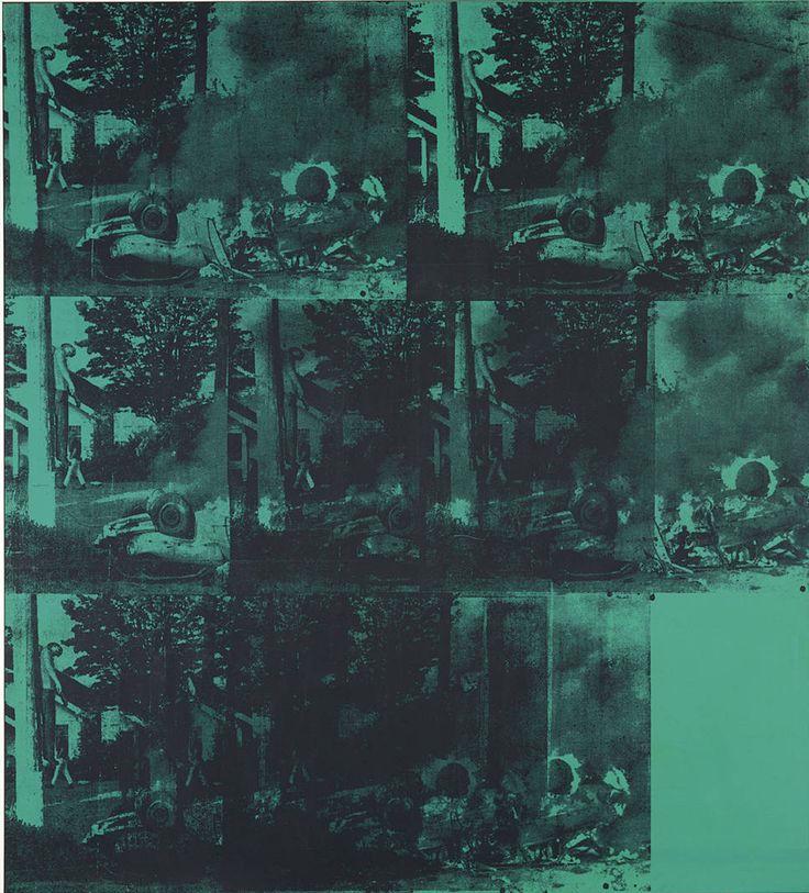 "Andy Warhol, ""Green Car Crash from"", Serigrafia, 1963 | NOTA manuscrita 2014"