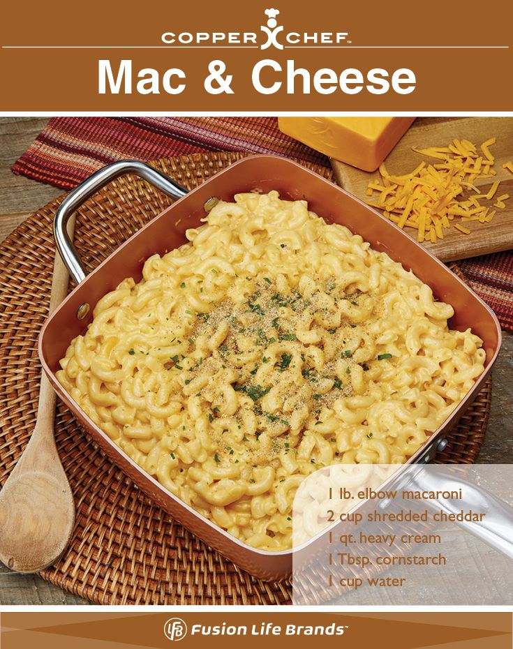 Mac and Cheese is easy and delicious when cooked in your #CopperChef nonstick pan! #Recipes #MacnCheese