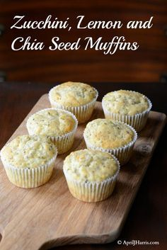 Zucchini Lemon and Chia Seed Muffins - an easy, delicious, wholesome muffin the whole family will love