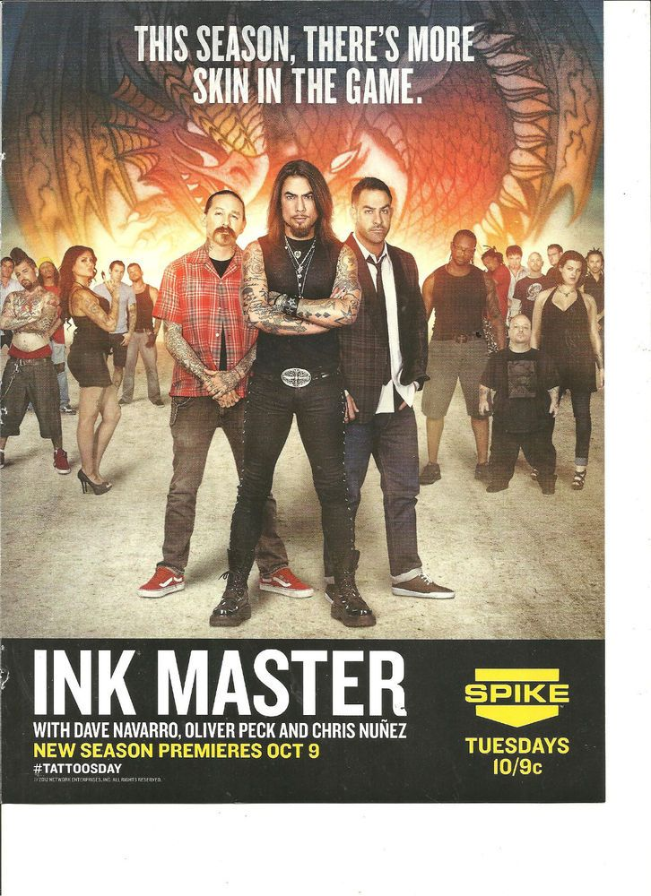 Ink Master, Dave Navarro, Chris Nunez, Oliver Peck, Full Page Promotional Ad