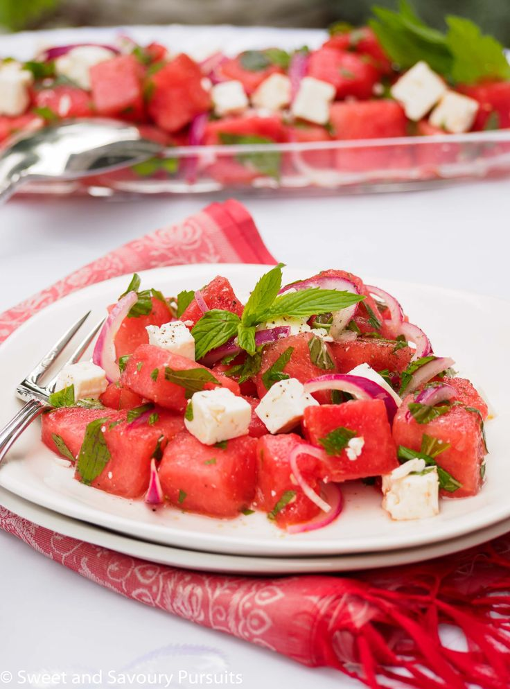 Watermelon and Feta Salad - Just a few ingredients and you've got the perfect summer salad!
