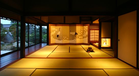 Inside of an old Japanese House. Oohiroma.