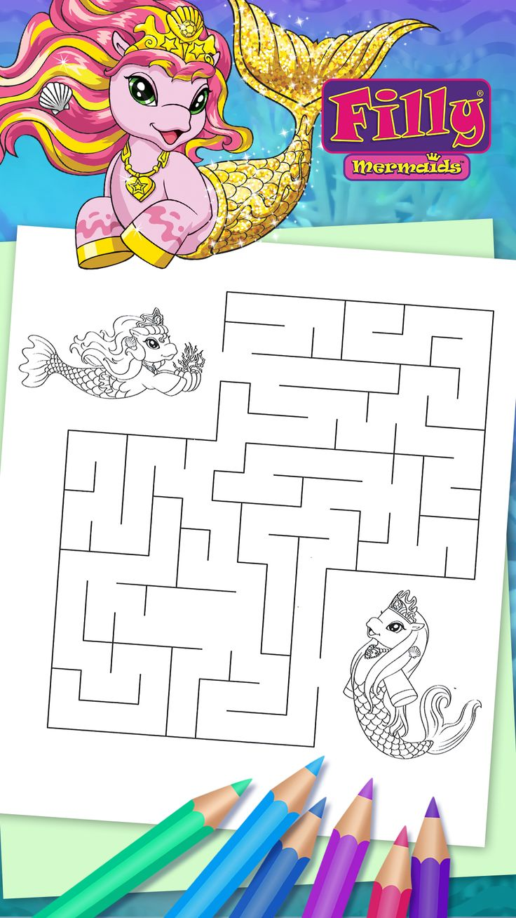 Filly Mermaids - Musica has a gift for Memory, can you help her to find the way?