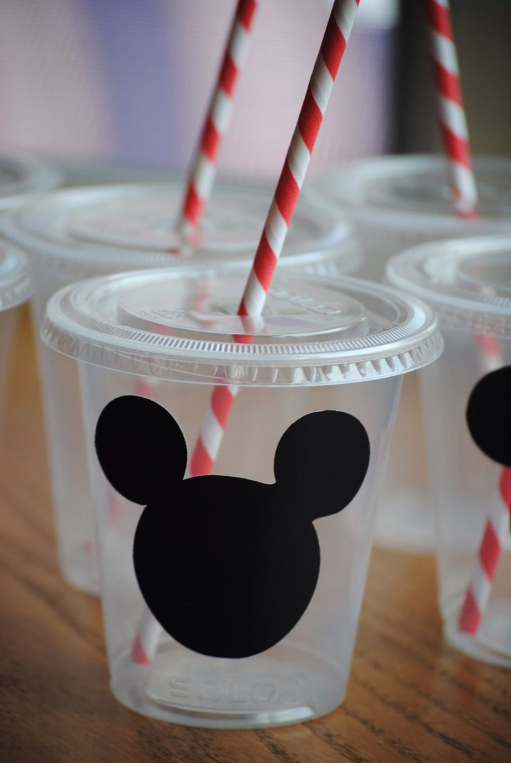 12 Mickey Mouse Party Cups with lids and straws by mlf465 on Etsy https://www.etsy.com/listing/164445395/12-mickey-mouse-party-cups-with-lids-and