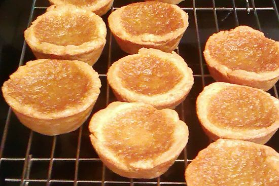 Maple + Butter = Ooey Gooey  Canadian Tarts! Double recipe, gives 36 frozen tart pastry...delicious!