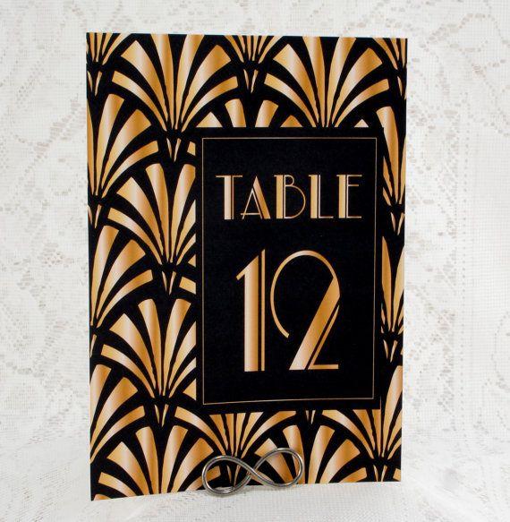 Wedding Table Number Cards  Art Deco Egyptian by WeddingMonograms, $3.50