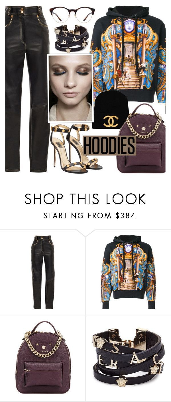 """My versace hoodie !"" by euafyl ❤ liked on Polyvore featuring Versace, stylish, Hoodies and powerlook"
