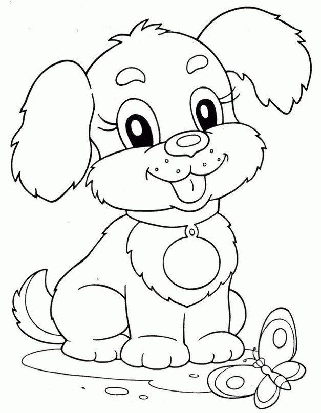 Картинка животных для раскраски