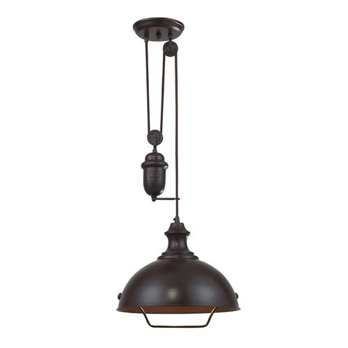 Farmhouse Pendant - Oiled Bronze 1-Light Pendant Light