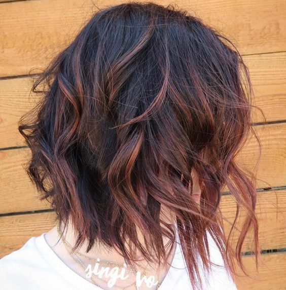 Reddish+Brown+Highlights+For+Black+Hair