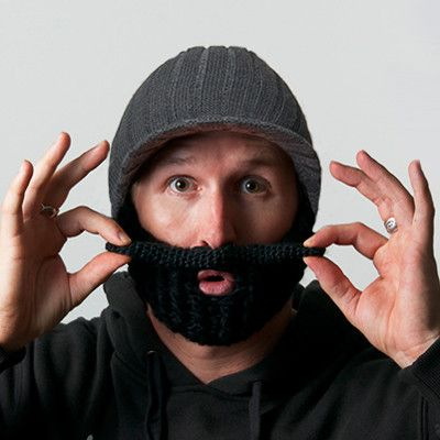 Beard Hat -Bendable mustache cap…because THIS is a thing