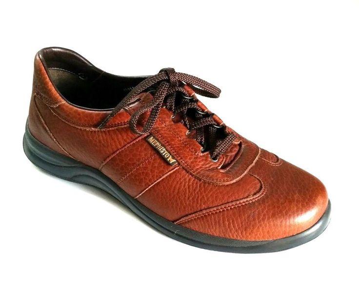 Mephisto RunOff Air-Jet Brown Leather Sneakers Comfort Walking Sport Shoe 9.5 US #Mephisto #BoatShoes
