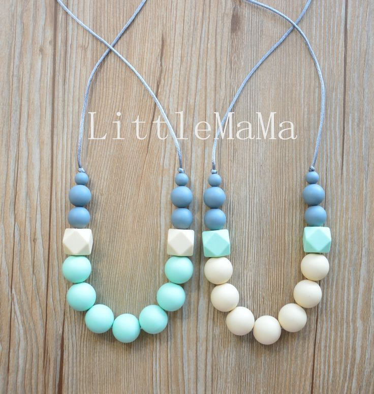 Silicone Teething Necklace Baby Teether Nursing necklace Safe jewelry for mom…
