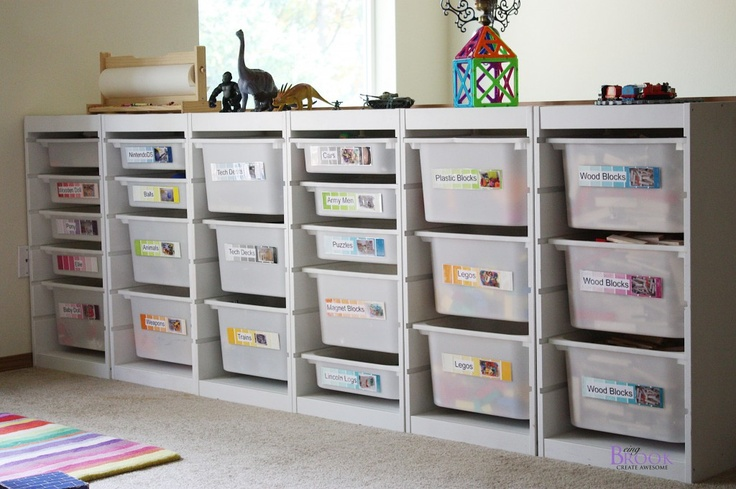 streamlined storage, with paint chips as labels! add this to my list of things to do w/ paint chips