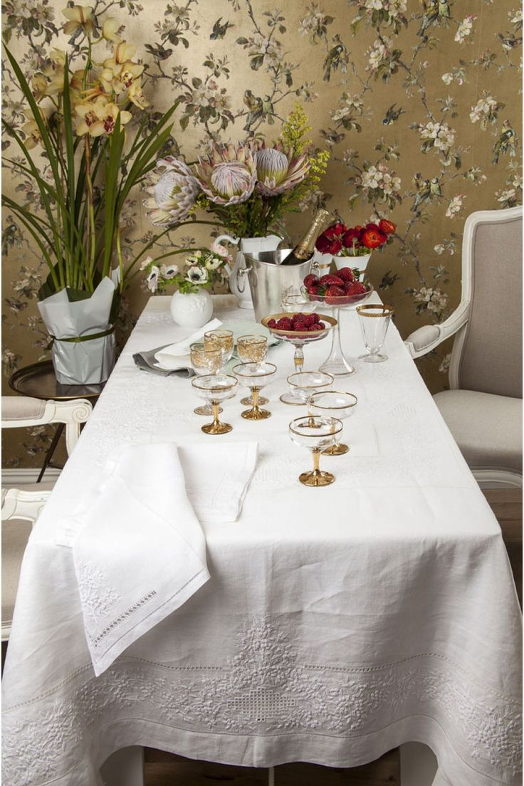 "Buy Linen Things Online - PURE LINEN products & fabrics ""Mimosa"" Table Linen Collection - FORMAL - TABLE - OUR PRODUCTS"
