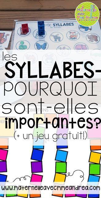 Les syllabes - pourquoi sont-elles importantes? Avec un jeu gratuit pour aider vos élèves à pratiquer!