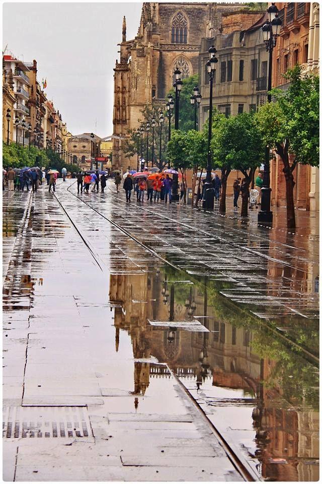 Tarde de lluvia en #Sevilla