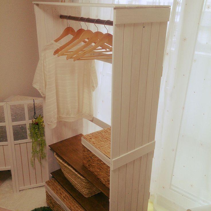 ハンガーを使った収納アイディア&実例集☆衣類をコンパクトにきれいに ... ハンガーラックをDIY(こだわりの自分用)