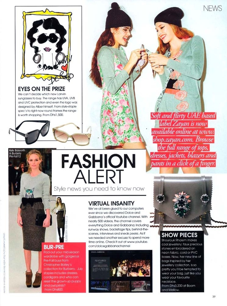 Zayan AW/12 collection featured in @viva_magazine <3