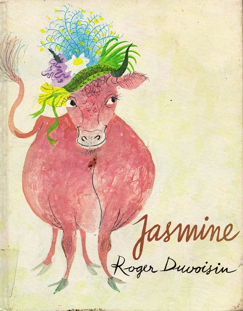 Jasmine - illustrated by Roger Duvoisin @Christina Dilkes....omg.. jasmine is really a fat pink cow? wtf?
