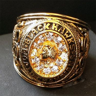 Vintage 1961 Chicago Blackhawks Stanley Cup Championship Ring